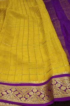 Yellow  Handloom Mysore Crepe Silk Checks Saree  contact us on www.luxurionworld.com +91 22 22810169 +91 7738869115 OR +91 7710801701                                          #yellow #checks #mysore #crepe #silksaree #fashion #traditionalsaree #designersarees #handloom #occasionwear #onlineshopping #luxurionworld