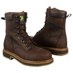 "John Deere 8"" Safety Toe Work Boot Boots (Dark Brown) - Men's Boots - 9.0 M"