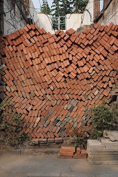 When you think a wall of bricks this isn't what you had in mind. i like it though