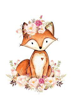 Fuchs Illustration, Cute Illustration, Cute Animal Drawings, Cute Drawings, Watercolor Animals, Watercolor Art, Scrapbooking Image, Fox Art, Cute Fox