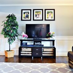 My husband and I recently added wainscoting and painted three rooms in our house.   We did work in our dining room, living room, and family room – we had wainsc…