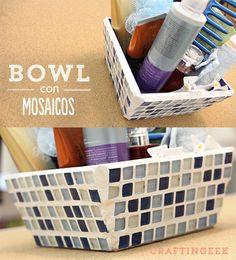 Bowl decorativo con mosaicos. Súper para organizar tus cosas.