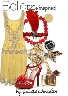 """Belle- 1920s inspired"" by princesschandler on Polyvore"