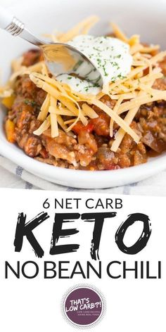 beauteous Keto Chili recipe that is whipped together in just 10 minutes and cooked all in . - Keto Chili recipe that is whipped together in just 10 minutes and cooked all in . Keto Recipes Source by DilanEasyCooking. Keto Chili Recipe, Chili Recipes, Slow Cooker Recipes, Keto Pasta Recipe, Paleo Chili, Keto Crockpot Recipes, Potato Recipes, Keto Meal Plan, Diet Meal Plans