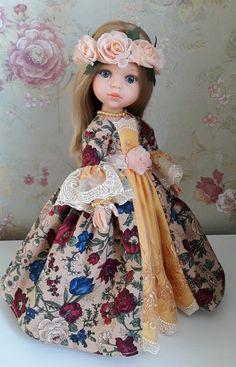 """Кукла Карла испанской фабрики Paolo Reina в авторском наряде. Платье в стиле """"рококо"""""""