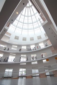 A look inside the atrium at Atlanta's High Museum of Art, designed by Richard Meier. Photo by Joeff Davis.