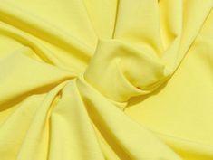 Tissu Molleton Elasthanne Jaune Citron Lemon, Yellow, Fabrics