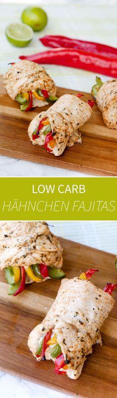 Low Carb Chicken Fajita Röllchen für das schnelle Abendessen - Gaumenfreundin Foodblog #gesunderezepte #schnellerezepte #lowcarb #lowcarbrezepte #fitnessrezepte #chickenfajitas #hähnchenrezepte #fitnessrezepte