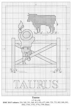 Schema punto croce Segni Zodiacali 14