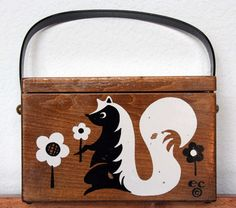 Enid Collins Untitled Box Bag Skunk by niwotARTgallery on Etsy, $220.00
