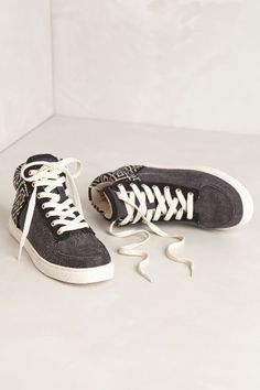 Woven High Top Sneakers - anthropologie.com