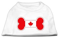 Mirage Pet Products Bone Shaped Canadian Flag Screen Print Shirt >>> To view further, visit now : Dog Shirts