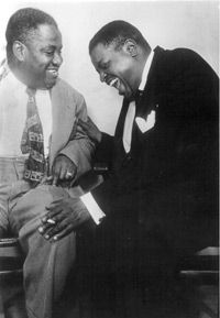 Art Tatum & Oscar Peterson- R.I.P. My Heroes in their approach, intelligence, Phenomenal skill level, PASSION for their art/craft. Also at that period African Americans had a much harder time at certain venues, Besides the colored signs and having to enter places in the back. They are truly two Iconic individuals whose works are internationally respected. <3 :-)
