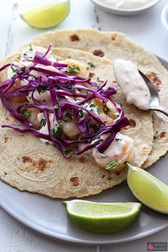 Healthy Shrimp Tacos - quick and easy!