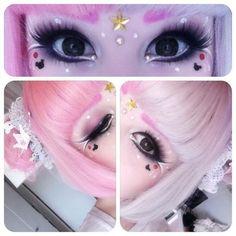 Mashyumaro   Kawaii Pastel Makeup inspiration #pink #hair #kawaii
