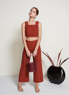 Out with... JumpsuitsIn with... Two-piecesThe new two-piece set is retro and versatile, and it shows off your midriff in a way that feels fresh — plus, jumpsuits are so overdone these days.Staud The Finn Top, $95, available at Staud. Staud The Oscar Culotte, $155, available at Staud.  #refinery29 http://www.refinery29.com/spring-wardrobe-swaps#slide-9