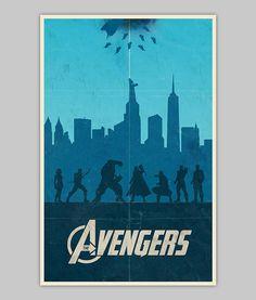 The Avengers movie poster von WilliamHenryDesign auf Etsy, $20.00