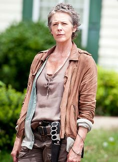 True sign of character devolpment and change in Walking Dead, from a weak frale wife to a strong brave Woman.