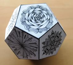 Zentangled  Dodecahedron