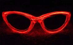EL Wire Sunglasses Electroluminescent Light Glow Glasses Red Electroluminescent Wire, Computer Accessories, Party Supplies, Glow, Sunglasses, Red, Stuff To Buy, Sunnies, Sparkle