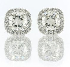 Love these cushion cut earrings to match my ring!