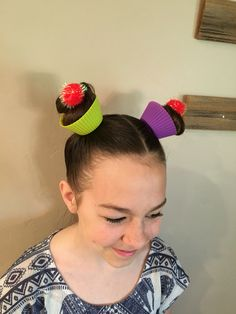 This is what I did for Crazy hair day!