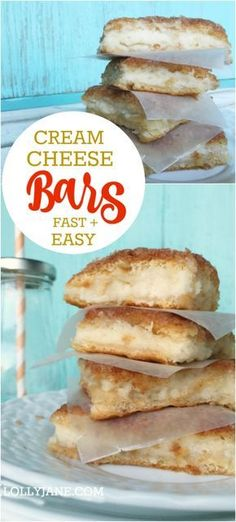 Great family recipe idea, these cream cheese squares are filled with a cheesecake like cream and are perfect for holiday get togethers or nightly dessert. Easy cheese danish recipe with Pillsbury Coconut Dessert, Bon Dessert, Dessert Party, Oreo Dessert, Dessert Simple, Brownie Desserts, Mini Desserts, Delicious Desserts, Yummy Food