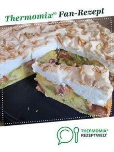 Rhabarber-Baiserkuchen mit Mandelsplittern von fauschi. Ein Thermomix ® Rezept aus der Kategorie Backen süß auf www.rezeptwelt.de, der Thermomix ® Community.