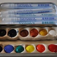 Homemade Watercolor Paints!  Awesome!