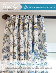 Freshly Handmade: Tutorial: How to Make Hook & Ring Curtain Panels