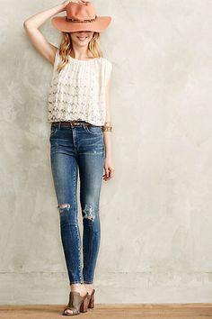 Love this look!  Citizens of Humanity Rocket High-Rise Skinny Jeans - anthropologie.com