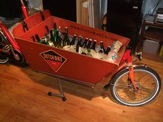 OMG - cargo bikes would make the best party bikes like this: Belgian beer in a Dutch Bike store bakfiets by Steven Vance, via Flickr