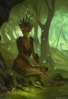 Tree people fantasy t Autumn painting and Nymphs Forest Creatures, Magical Creatures, Fantasy Creatures, Fantasy Magic, Fantasy World, Fantasy Art, Character Inspiration, Character Art, Character Design