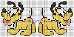 O que você procura? Kawaii Cross Stitch, Cross Stitch Baby, Cross Stitch Charts, Cross Stitch Patterns, Pixel Crochet Blanket, Graph Crochet, Pikachu Crochet, Dog Crafts, Mickey And Friends