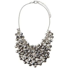 Kimmy Sparkle Necklace ($38) ❤ liked on Polyvore featuring jewelry, necklaces, accessories, collares, sale+women, women's clothing, collar necklace, statement necklace, bib statement necklace and statement collar necklace