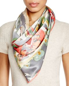 """Echo Painter Paisley Silk Scarf 