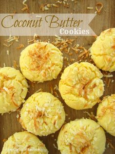 Coconut Butter Cookies by SimplyGloria.com