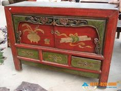 antique furniture - I would paint it totally differently, but the piece is nice.