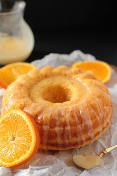 This Easy Glazed Orange Bundt Cake is full of delicious citrusy flavor of oranges, and is perfect for tea time or even breakfast!