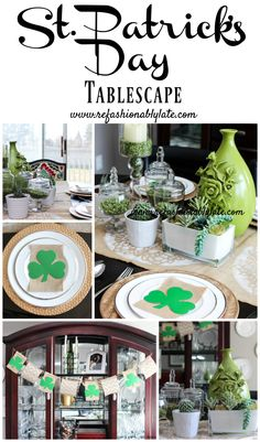 St. Patrick's Day Tablescape - Refashionably Late