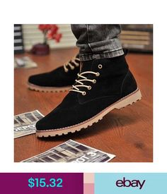 ac4748b5629 Casual British Men s Casual Suede Lace Ankle Boots High Top Loafers  Sneakers Shoes Bg49  ebay  Fashion