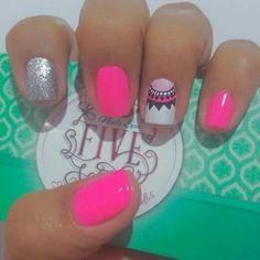 trendy ideas for nails verano acrilico American Manicure Nails, Glitter French Manicure, French Manicure Designs, Nail Designs Spring, Crazy Nails, Dope Nails, Fun Nails, Manicure Colors, Manicure And Pedicure