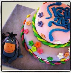birthday cake, sugar art, eeyore, baby shower, fondant, sugarpaste