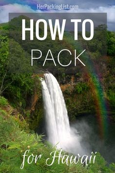 Everything you need to pack for your dream adventure in Hawaii! Aloha!