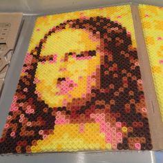 Mona Lisa portrait hama beads by andy_bloom1