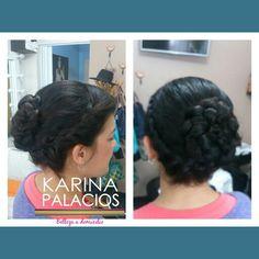 Moño con trenza Peinado Karina Palacios