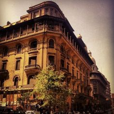 at Emad Eldin street in Cairo, Egypt Cairo Egypt, Louvre, Around The Worlds, Earth, Mansions, Street, Architecture, House Styles, Building
