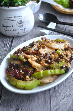 Fish Fillets with Bittergourd in Black Bean Sauce 黑豆豉苦瓜鱼 - Eat What Tonight Fish Recipes, Seafood Recipes, Asian Recipes, Cooking Recipes, Healthy Recipes, Recipies, Bitter Melon Recipes, Asian Cooking, Cooking Fish