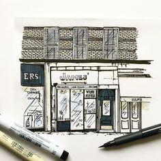 New York #10  #wwpiercenewyorkseries #newyork #nyc #ink #pen #illustration #illustrator #art #artist #draw #drawing #white #black #tombow #fabercastell