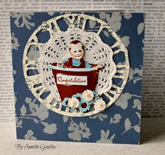 New baby card, stamp by Art Journey